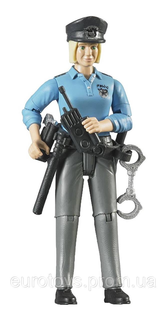 BRUDER Фігурка жінки - поліцейського з аксесуарами (60430)