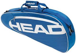 Синяя легкая теннисная сумка-чехол  на три ракетки 283454 Elite Pro  BLWH HEAD