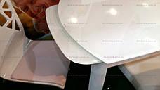 Стіл скляний розкладний DST-102 (BL002) DAOSUN, білий, фото 2