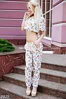 Женский яркий костюм с топом Турция