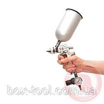 HVLP STEEL PROF KIT Краскораспылитель 1,7 мм в комплекте с дополнительной форсункой 1,4 мм INTERTOOL PT-1505, фото 2
