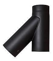 Тройник 45° черный жаростойкий 2мм