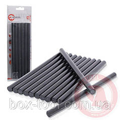 Комплект черных клеевых стержней 11,2 мм x 200 мм, 12 шт. INTERTOOL RT-1023