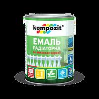 Эмаль для радиаторов отопления термостойкая акриловая белая матовая водоразбавляемая Kompozit  0,3л