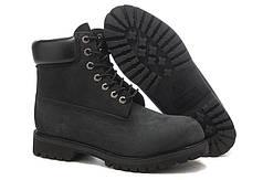 Ботинки Timberland Classіc Black Boots черные топ реплика