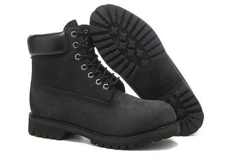 Ботинки Timberland Classіc Black Boots черные топ реплика, фото 2