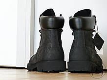 Ботинки Timberland Classіc Black Boots черные топ реплика, фото 3
