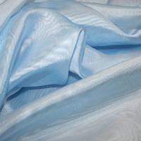 Тюль Микровуаль голубая, однотонная + высококачественный пошив