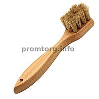 Щетка для одежды и обуви 40мм маленькая с ручкой натуральный ворс