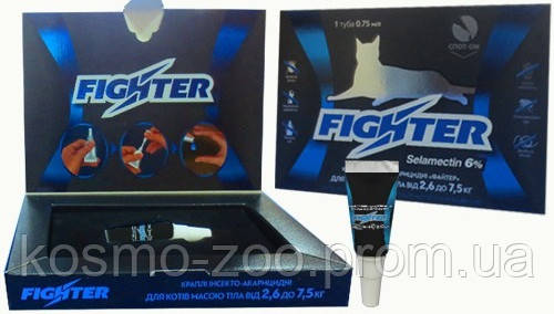 Комплекс Файтер (Fighter), селамектин 6%,от внешних и внутренних паразитов для котов от2,6 до 7,5 кг