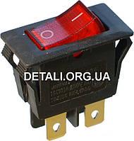 Тумблер с подсветкой 2 положения 4 контакта 17*33 mm 16A