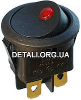 Тумблер круглый 2 положения 4 контакта светодиод d 23 mm 6A