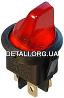 Тумблер с подсветкой 2 положения 4 контакта круглый d23 mm 6A