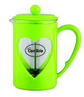 Чайник френч-пресс (заварник) Con Brio СВ-5680 зеленый, 800 мл