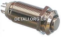 Кнопка антивандальная d14mm резьба 12mm h30mm 2 положения 4 контакта индикация