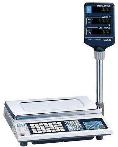 Весы торговые CAS AP-30EX до 30 кг; со стойкой, фото 2