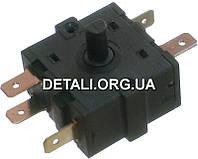 Переключатель поворотный 3 положения 5 контактов 32*32mm 16A