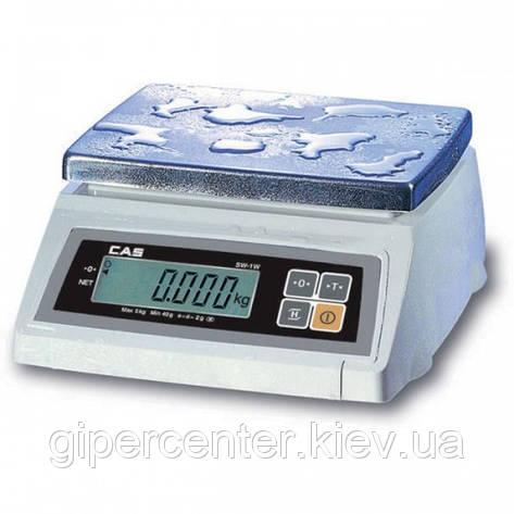 Весы фасовочные CAS SW-5W до 5 кг; дискретность 1/2 г, влагозащищенные, фото 2