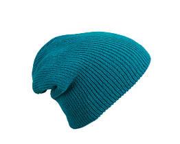 Трикотажная шапка длинный крой  цвет ультрамарин mb7955
