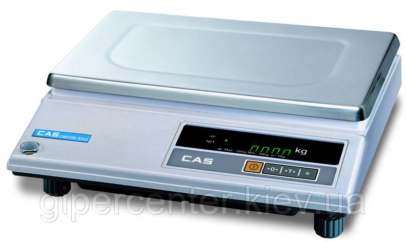 Весы фасовочные CAS AD-25 до 25 кг, дискретность 5 г, фото 2