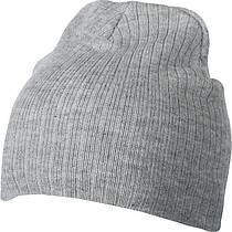 Класичесская шапка ребристая вязка  цвет пепельный mb7923