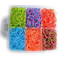 Набор резиночек для плетения в стиле Rainbow Loom, резиночки для плетения браслетов 6 цветов