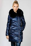Зимняя женская удлиненная куртка Chanevia без капюшона на синтепоне