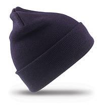 Зимняя шапка UNISEX WOLLY SKI HAT цвет тёмно-синий RC029X