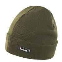 Зимняя шапка UNISEX LIGHTWEIGHT THINSULATE HAT цвет оливковый RC133X