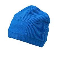 Утеплённая Длинная шапка Beanie цвет ярко-синий MB7994