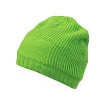 Утеплённая Длинная шапка Beanie цвет салатовый MB7994