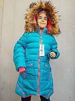 Куртка зимняя на девочку подросток SPEED.A с тремя пуговицами большая