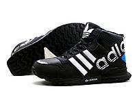 Зимние кроссовки Adidas, на меху, черные, р. 41