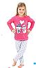"""Пижама для девочки """"Снеговики"""""""