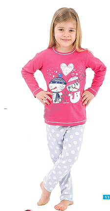 """Пижама для девочки """"Снеговики"""", фото 2"""