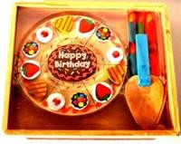 Деревянный торт, на липучках, со свечками