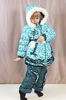 Детский зимний теплый комбинезон на девочку.