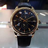 Мужские часы с кожаным ремешком, guardo S1033GB