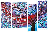 """Модульная картина """"Абстрактное дерево"""" 161x110 см"""