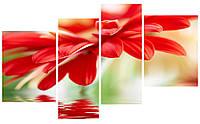 """Модульная картина """"Цветок"""" 192x112 см"""