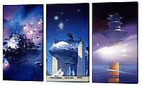 """Модульная картина """"Космос"""" 163x99 см"""