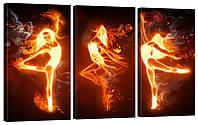 """Модульная картина """"Танец огня"""" 160x99 см"""