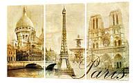 "Модульная картина ""Париж абстракция"" 160x99 см"
