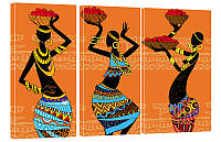 "Модульная картина ""Африканки"" 155x99 см"