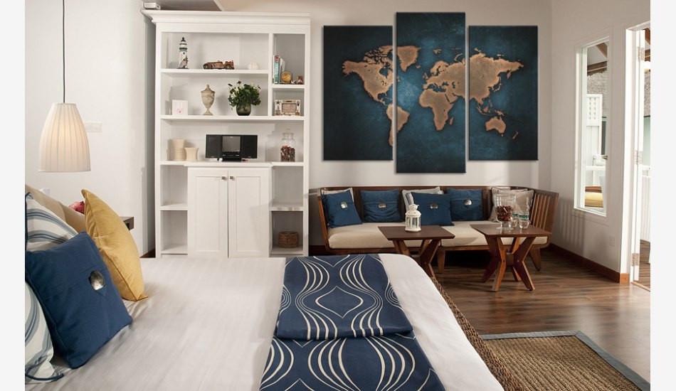 """Модульная картина """"Карта мира"""" 163x99 см"""