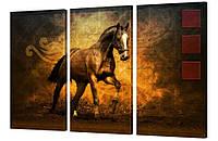 """Модульная картина """"Арабская лошадь"""" 163x99 см"""