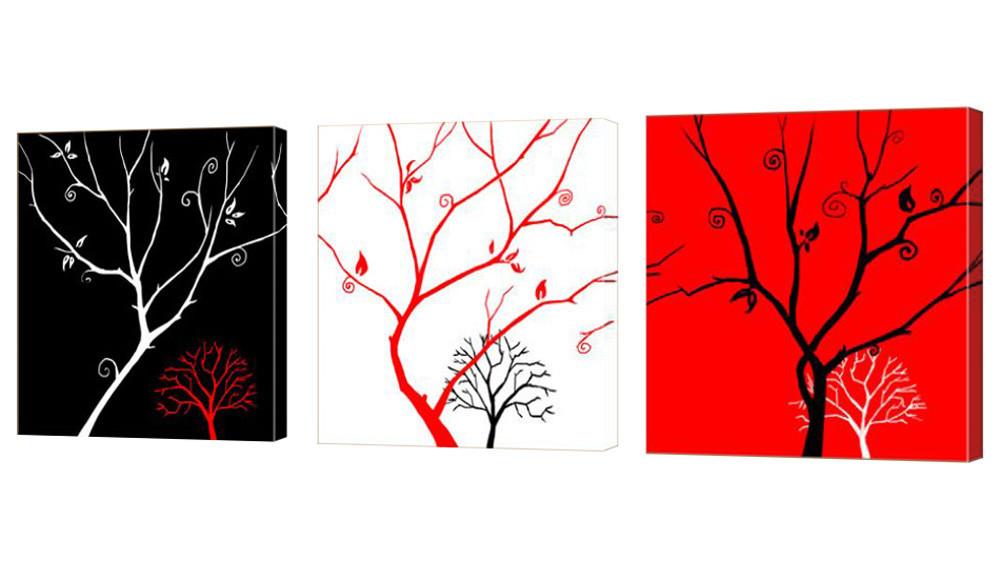 """Модульная картина """"Деревья три цвета"""" 160x53 см"""