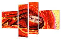 """Модульная картина """"Восточный взгляд"""" 162x110 см"""