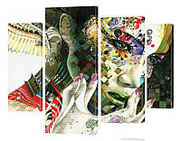 """Модульная картина """"Симбиоз"""" 116x99 см"""