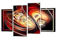 """Модульная картина """"Абстрактная жемчужина"""" 212x130 см"""